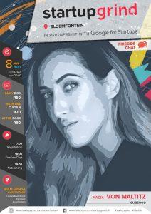Nadia von Maltitz speaks at Google startupgrind